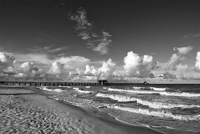 Naples Pier 6129 bw©rjwiley